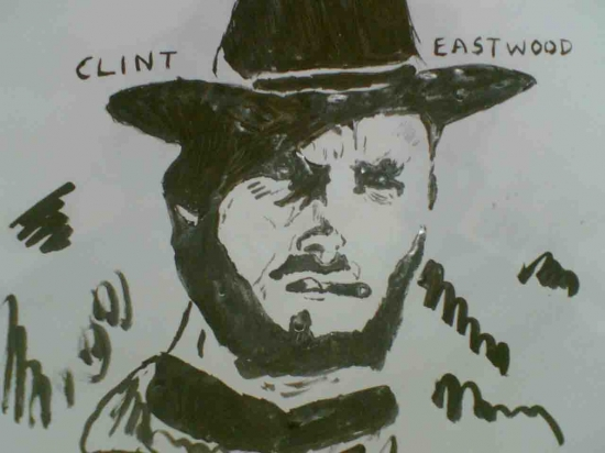 Clint Eastwood by arun